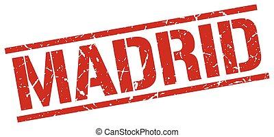 timbre,  Madrid, carrée, rouges