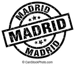 timbre,  Madrid,  grunge, rond, noir