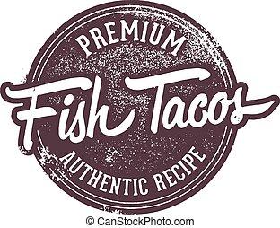 timbre, menu, fish, taco