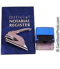 timbre, notary, registre, embosser