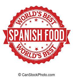timbre nourriture, espagnol
