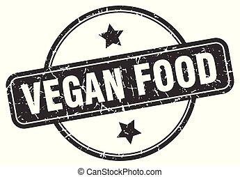 timbre nourriture, grunge, vegan