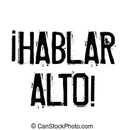 timbre, parler, haut, espagnol