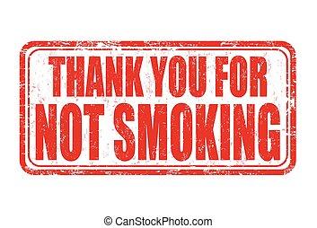 timbre, pas, vous, remercier, fumer