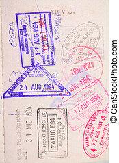 timbre, passeport