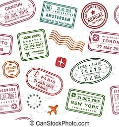 timbre passeport, texture