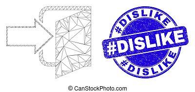 timbre, porte, cachet, maille, #dislike, détresse, bleu, sortie, toile