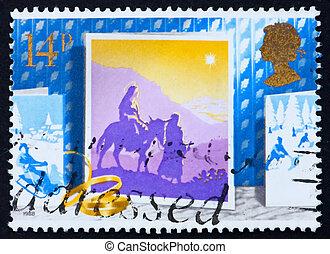 timbre postal, 1988, voyage, gb, bethlehem