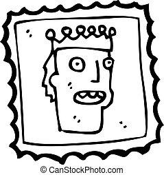 timbre postal, dessin animé