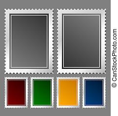 timbre postal, gabarit