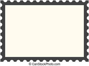 timbre postal, gabarit, noir