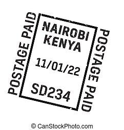 timbre postal, nairobi