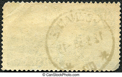 timbre postal, renverser, côté