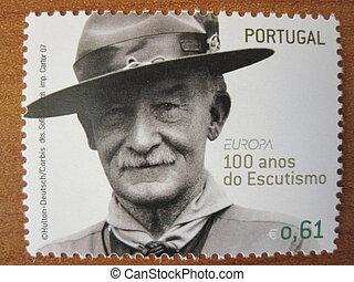 timbre postal, scoutisme
