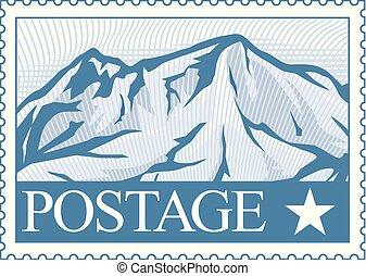 timbre postal, vecteur, illustration