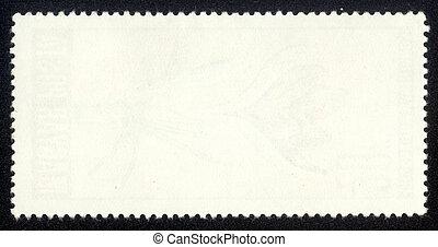 timbre postal, vieux, vide