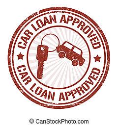 timbre, prêt voiture, approuvé