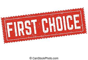 timbre, premier, choix, caoutchouc, grunge