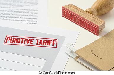 timbre, -, punitive, document, tarif, rouges