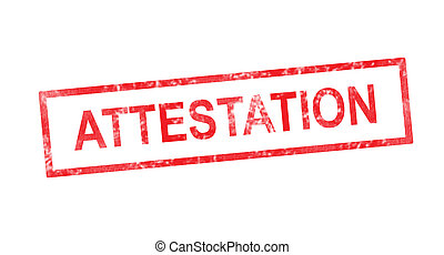 timbre, rouges, rectangulaire, attestation