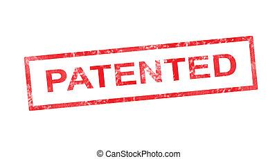 timbre, rouges, rectangulaire, breveté