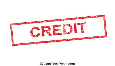 timbre, rouges, rectangulaire, crédit