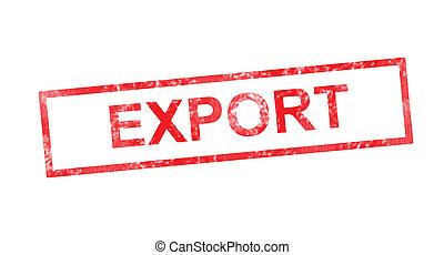 timbre, rouges, rectangulaire, exportation
