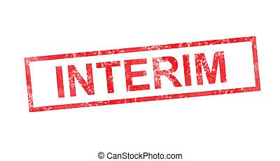 timbre, rouges, rectangulaire, interim