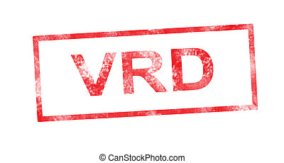 timbre, rouges, rectangulaire, vrd