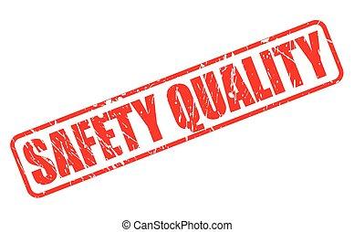 timbre, sécurité, qualité, rouges, texte