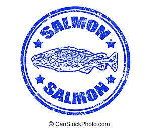 timbre, saumon