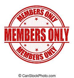 timbre, seulement, membres