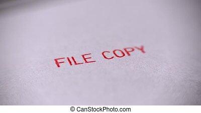 timbre, sur, caoutchouc, arrière-plan., fichier, blanc,...