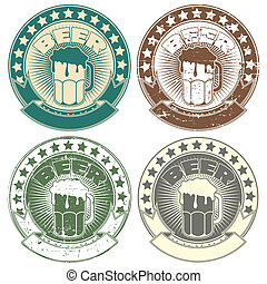 timbre, symb, image, bière