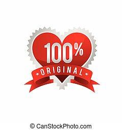 timbre, symbole, gabarit, 100%, amour, original