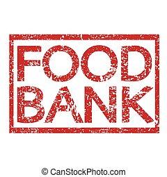timbre, texte, banque aliment