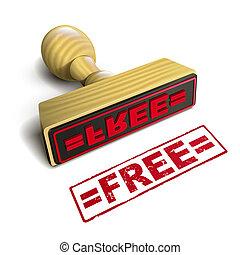 timbre, texte, blanc rouge, gratuite