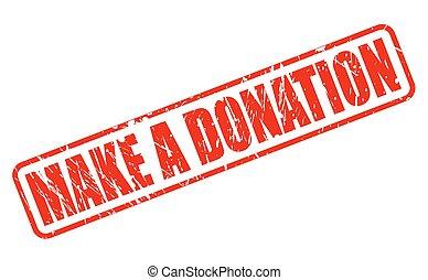 timbre, texte, faire, donation, rouges