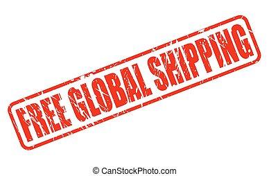 timbre, texte, global, gratuite, expédition, rouges