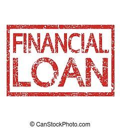 timbre, texte, prêt, financier