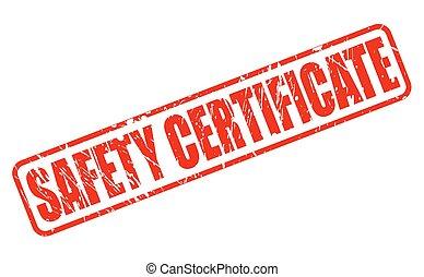 timbre, texte, sécurité, certificat, rouges
