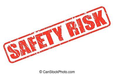 timbre, texte, sécurité, risque, rouges