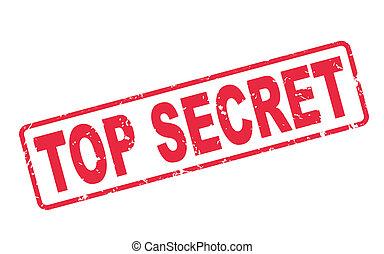 timbre, texte, secret supérieur, blanc rouge