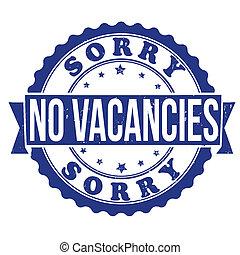 timbre, vacances emploi, non
