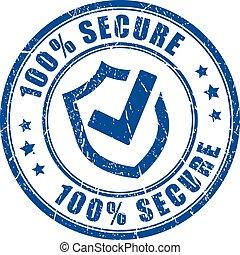 timbre, vecteur, assurer, protection