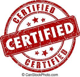 timbre, vecteur, certifié