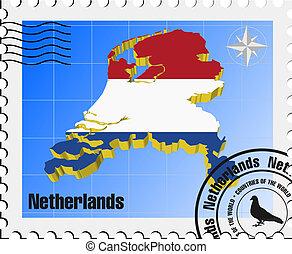 timbre, vecteur, pays-bas