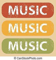 timbre, vendange, ensemble, musique
