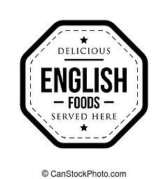 timbre, vendange, nourritures, délicieux, anglaise