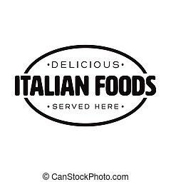 timbre, vendange, nourritures, italien